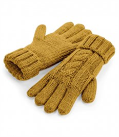 Beechfield Cable Knit Melange Gloves