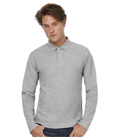 B&C ID.001 Mens Long Sleeve Polo