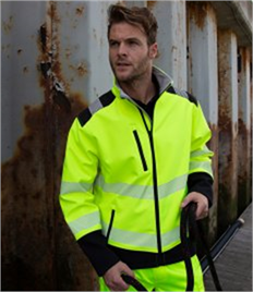 Result Safe-Guard Printable Ripstop Safety Soft Shell Jacket