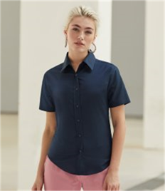 Fruit of the Loom Lady Fit Short Sleeve Oxford Shirt