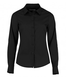 Kustom Kit Ladies Long Sleeve Tailored Poplin Shirt