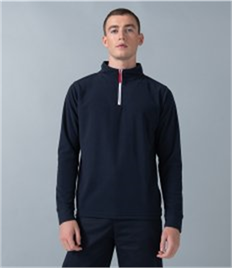 Finden and Hales Zip Neck Piped Micro Fleece