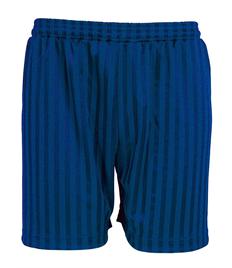 Kiwi PE Shorts: Black or Royal, Waist 18'/20' - 26'/28'