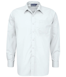 Boys Long Sleeve Shirt (Twin Pack): Collar 11 - 14