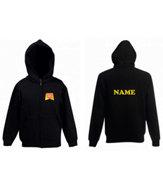 Zipped Hoody (Adult Size) + NAME