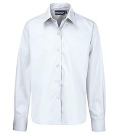 Boys Long Sleeve Shirt (Twin Pack): Collar 14.5 - 17.5