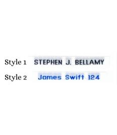 Batheaston Woven Name Tapes: Style 1